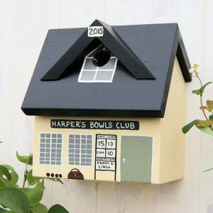 Personalised Bowls Club Bird Box