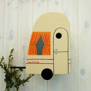 Personalised Caravan Bird Box