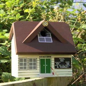 Personalised Cricket Pavilion Bird Box