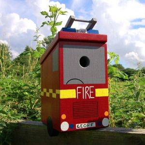 Personalised Fire Engine Bird Box