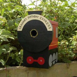 Personalised Steam Train Bird Box