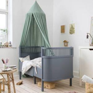 Sebra Forest Lake Blue Baby & Junior Cot Bed