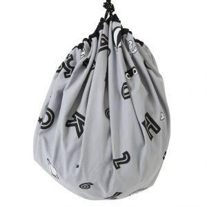 Grey Alphabet Cotton Storage Sack