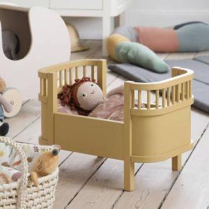 Honey Mustard Dolls Cot Bed