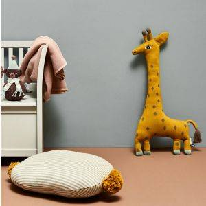Noah The Giraffe Hand Knitted Cushion