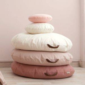 Large Cotton Beanbag With Leather Handle