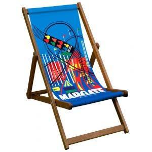 Margate Rail Poster Deck Chair