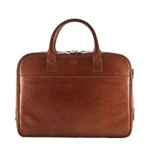 Maxwell Scott Calvino Leather Macbook/Laptop Business Bag