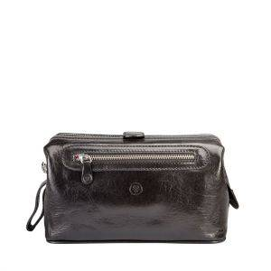 Maxwell Scott Duno L Mens Leather Wash Bag