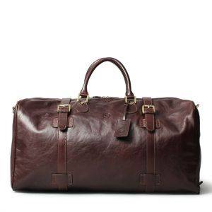 Maxwell Scott Flero EL Luxury Leather Overnight Bag