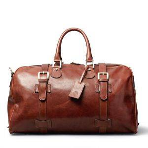 Maxwell Scott Flero M Luxury Leather Overnight Bag