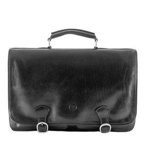 Maxwell Scott Jesolo 2 Leather Briefcase Satchel