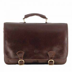Maxwell Scott Jesolo 3 Leather Briefcase Satchel