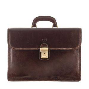 Maxwell Scott Paolo 2 Leather Briefcase
