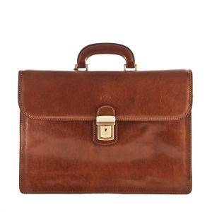 Maxwell Scott Paolo 3 Leather Briefcase