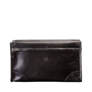 Maxwell Scott Tanta Mens Leather Wash Bag