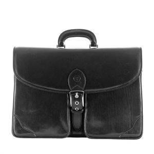 Maxwell Scott Tomacelli 3 Leather Briefcase