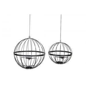 Yongeli Wire Lantern - Antique Black