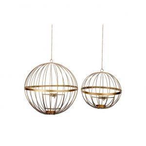 Yongeli Wire Lantern - Antique Brass