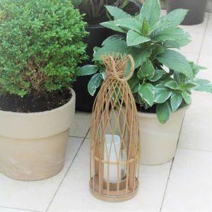 Tall Slim Bamboo Lantern