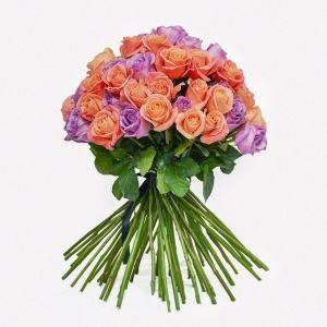 Purple and Pink Roses - Tiffany's Bouquet