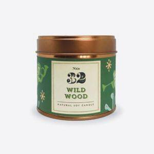 Quintessentially English Wild Wood Tinned Soy Candle