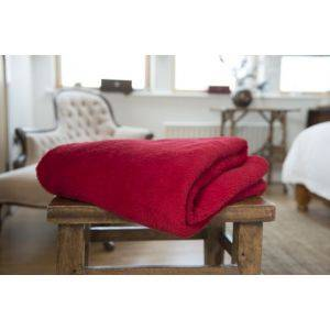 Roosevelt Polyester Throw Red Chilli