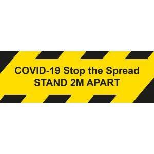 Self Adhesive Heavy Duty Anti Slip Floor Sticker - COVID19 Stand 2m Apart