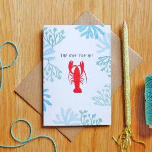 Lobster The One For Me Card