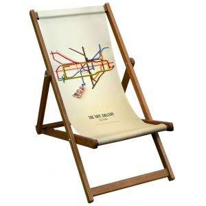 Tate By Tube London Transport Deck Chair