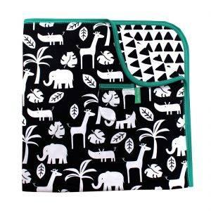 Black Jungle Blanket