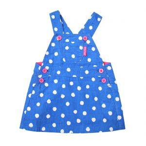 Blue Dot Dungaree Dress