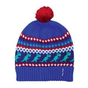 Knitted Cotton Hat Dino Design