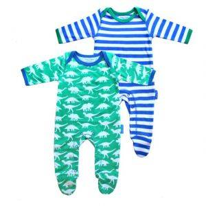 Organic Cotton Dino Sleepsuit Twin