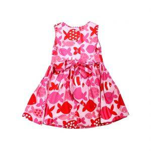 Fish Party Cotton Dress