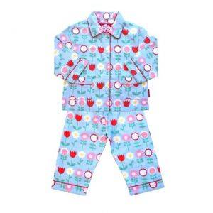 Brushed Cotton Blue Flower PJs