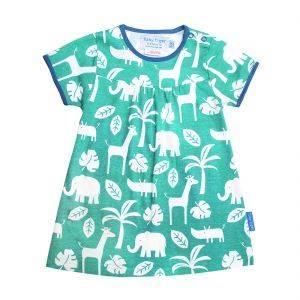 Organic Cotton Green Jungle Dress