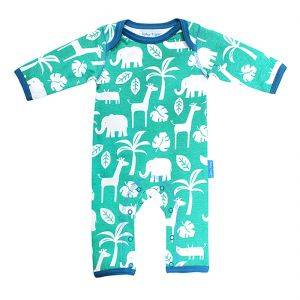 Organic Cotton Green Jungle Sleepsuit