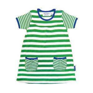 Green Stripe T-Shirt Dress