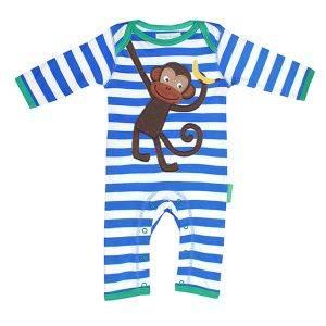 Organic Cotton Monkey Sleepsuit