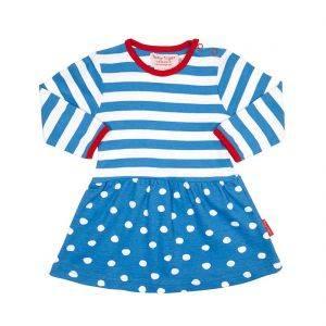 Blue Polka Dot Twirl Dress