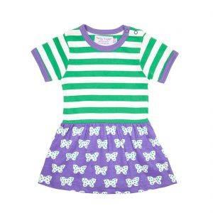 Butterfly Green Purple Twirl Dress
