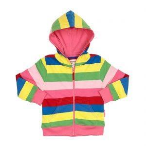 Organic Girly Stripe Hoodie