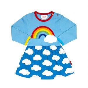Rainbow Cloud Blue Twirl Dress