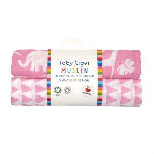 Pink Jungle Baby Muslin 2 Pack