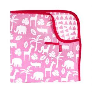Organic Cotton Pink Jungle Blanket