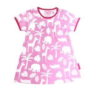 Organic Cotton Pink Jungle Dress