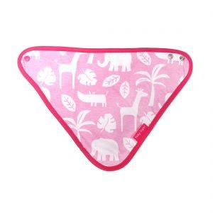 Pink Jungle Dribble Bib