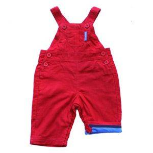 Bright Red Cord Dungarees