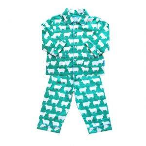 Brushed Cotton Green Sheep PJs